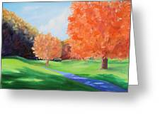 Golf Course In The Fall 1 Greeting Card