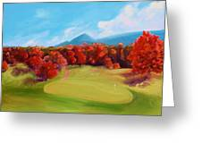 Golf Course In The Fall 2 Greeting Card