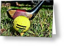 Golf - Tee Time With A 3 Iron Greeting Card