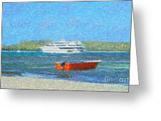 Gone Ashore Greeting Card