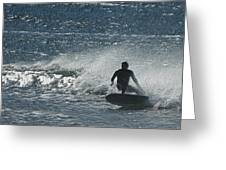 Gone Surfing Greeting Card