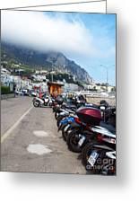 Good Morning Capri Greeting Card by Joyce Hutchinson