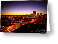 Good Night Mile High Greeting Card