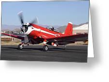 Goodyear F2g-1 Corsair N5588n Race 57 Falcon Field Arizona December 27 2011 Greeting Card