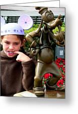 Goofy Girl Greeting Card