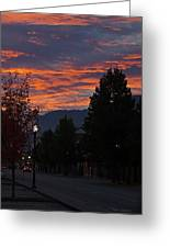 Gorgeous Sunrise On G Street Greeting Card