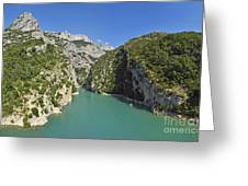 Gorges Du Verdon River From Sainte-croix Lake Greeting Card