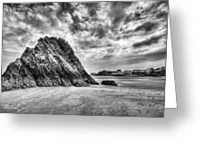 Goscar Rock Tenby 2 Mono Greeting Card