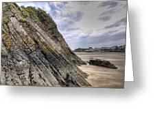 Goscar Rock Tenby 3 Greeting Card