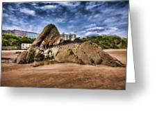 Goscar Rock Tenby 4 Painted Greeting Card
