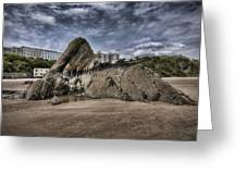 Goscar Rock Tenby 4 Greeting Card