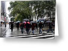 Gotham Rainy Day Greeting Card