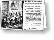 Gourmands Almanac, 1806 Greeting Card
