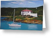 Government House At Cruz Bay Greeting Card