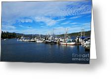 Government Wharf In Sooke Harbour Greeting Card