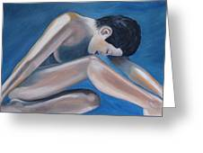 Gracefully Blue Greeting Card