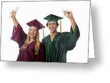 Graduation Couple V Greeting Card