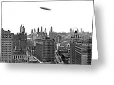 Graf Zeppelin Over Chicago Greeting Card