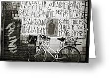 Graffiti And Bicycle Greeting Card