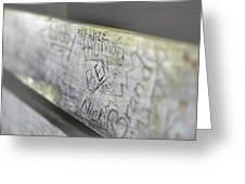 Graffiti Bench Greeting Card