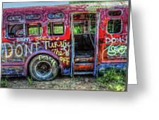 Graffiti Bus Greeting Card