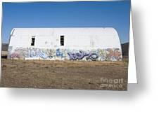 Graffiti On Abandoned Equipment Shed Greeting Card by Paul Edmondson