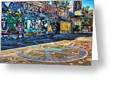 Graffiti Playground Greeting Card