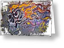 Graffiti Skull Greeting Card