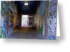 Graffiti Walkway Greeting Card