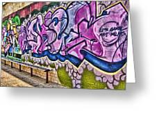Graffitti-lets Gambl Make Dollars Greeting Card