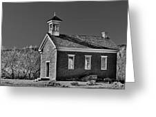 Grafton Schoolhouse - Bw Greeting Card