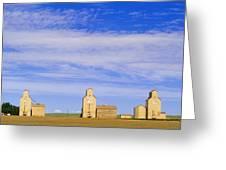 Grain Elevators, Mossleigh, Alberta Greeting Card