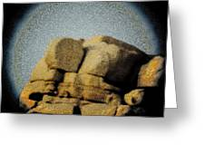 Grainy Pinhole Micro-world Of A Rock Greeting Card