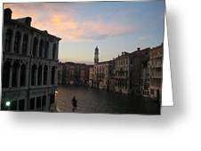 Grand Canal At Dusk Greeting Card