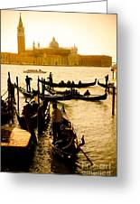 Grand Canal At Sunset - Venice Greeting Card
