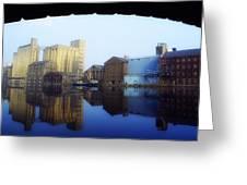 Grand Canal, Dublin, Co Dublin, Ireland Greeting Card