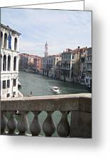 Grand Canal From A Bridge Greeting Card