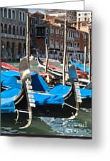 Grand Canal Gondolas Painting Greeting Card