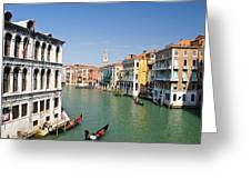 Grand Canal With Gondola  Venice Greeting Card