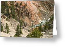 Grand Canyon And Yellowstone River Greeting Card