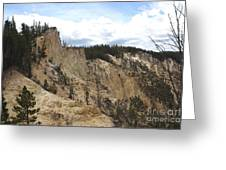 Grand Canyon Cliff In Yellowstone Greeting Card
