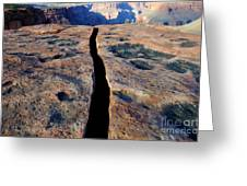 Grand Canyon Dividing Line Greeting Card