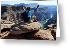 Grand Canyon Feeling All Right Greeting Card