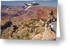 Grand Canyon Fly By-1 Greeting Card