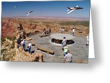 Grand Canyon Fly By-2 Greeting Card
