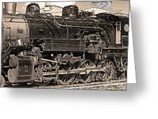 Grand Canyon Railroad Locomotive Greeting Card