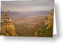 Grand Canyon Scenic Overlook View Greeting Card