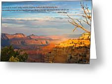 Grand Canyon Splendor - With Quote Greeting Card