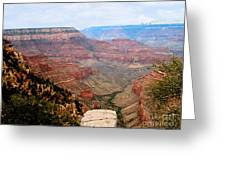 Grand Canyon With Smoke Greeting Card