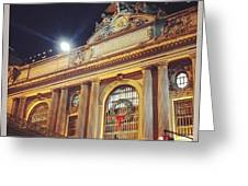 Grand Central Christmas Wreath Greeting Card